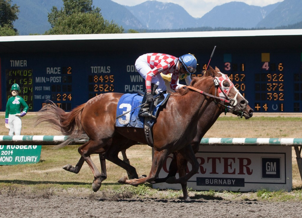 SAID TAYLOR WON THE SECOND AND ONE OF ONLY TWO FAVORITES TO WIN ON THE SUNDAY CARD - PATTI TUBBS PHOTO