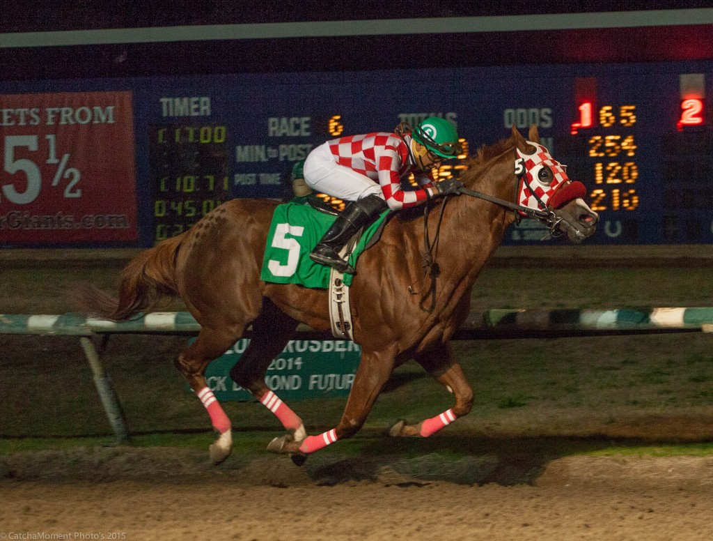 CRACKDOWN WON THE SIXTH WITH DAVID LOPEZ ABOARD - PATTI TUBBS PHOTO