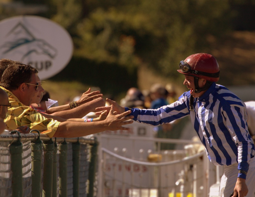 JOCKEY SCOTT WILLIAMS AFTER HIS WIN ON SQUARE DANCER