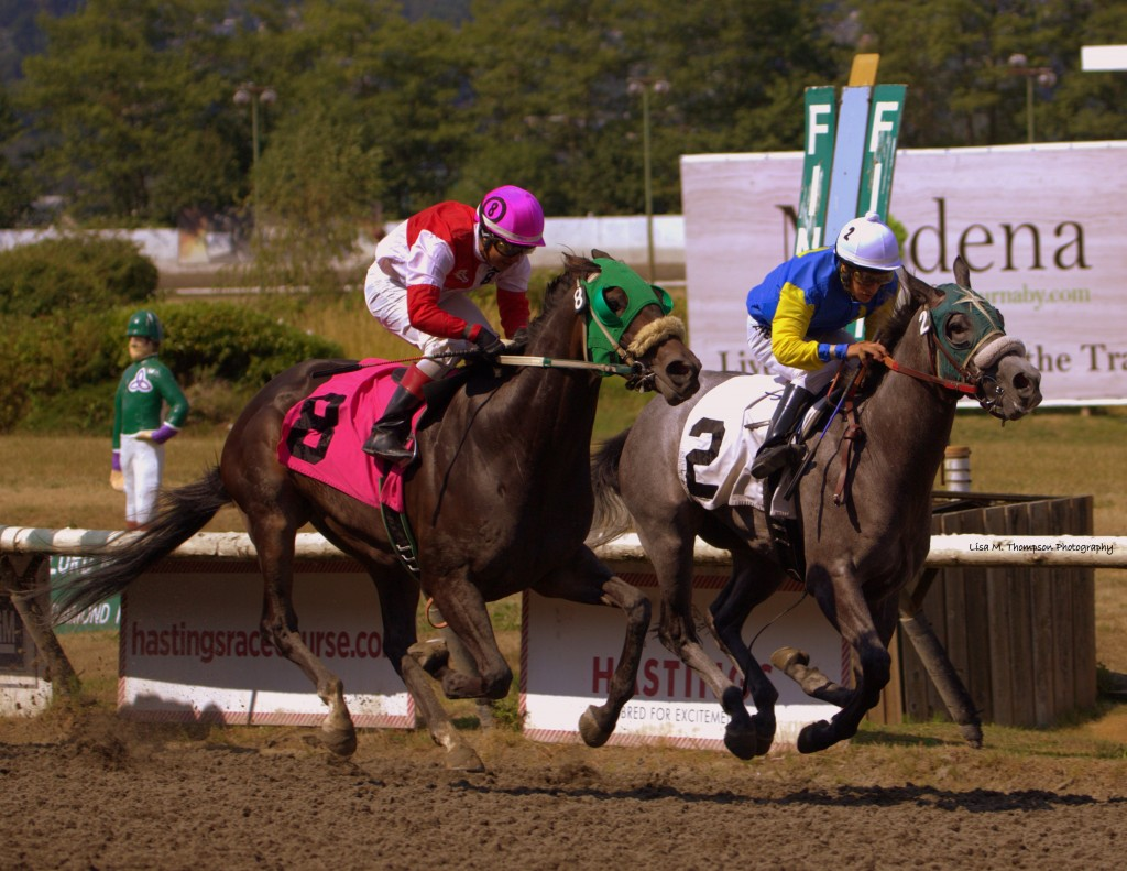 THE ODDS R GOOD ON THE INSIDE WON THE 4TH ON SUNDAY - LISA THOMPSON PHOTO