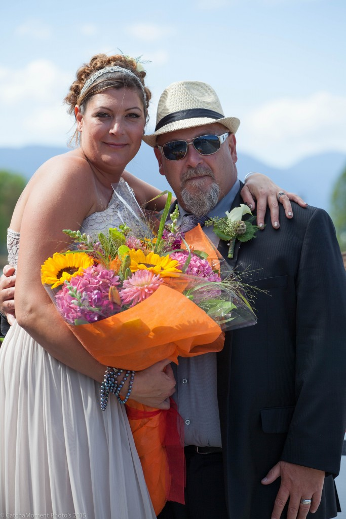 THIS COUPLE GOT MARRIED AT HASTINGS ON SUNDAY AND WE WISH THEM LUCK - PATTI TUBBS PHOTO